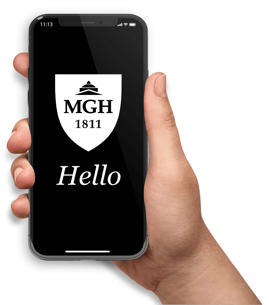 Mobile phone with MGH Logo
